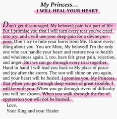My Princess...I will heal your heart