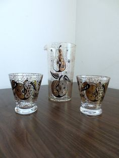 Mid Century Gold and Black Georges Briard Fruit by gremlina, $36.00
