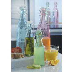 250ml Colour Pop Clip Top Bottles | The Handpicked Collection