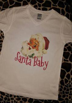 Santa Baby V-Neck Tee Size 2T-18