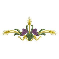 BARRADO DE TRIGO Y UVAS 15CM Christian, Floral, Flowers, Plants, Usb, Tattoos, Baby Things, Painting On Fabric, Block Prints