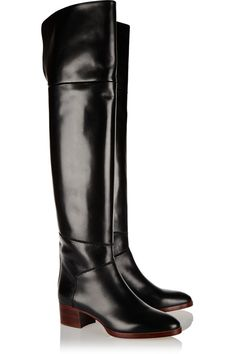Chloé | Leather over-the-knee boots