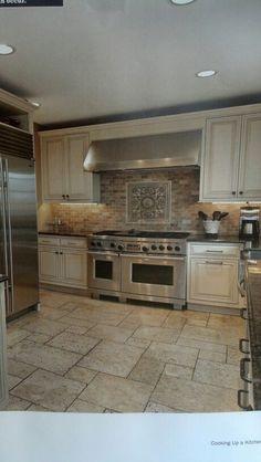 Kitchen idea for cabinets  paint Annie Sloan old white chalk paint