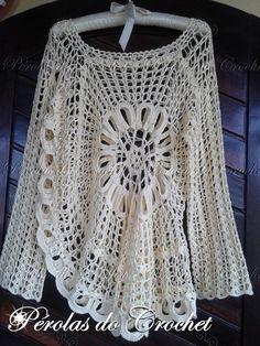 * Pérolas do Crochet: Blusa em crochet modelo Ana Maria