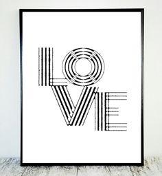 Love Print Black White Print Love Black White by CristylClear