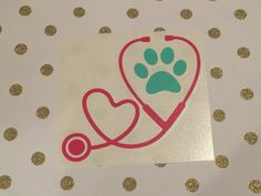 Vet Tech Decal | Paw Print Stethoscope Decal | Veterinarian Decal | Car Decal | Vet Tech Car Decal | Paw Print Decal | Vet Tech Gift