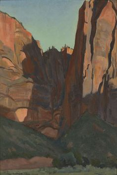 Notch in the Wall, Zion National Park, August 1933 - Maynard Dixon, Impressionism
