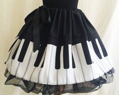 Piano Print skirts Musician Clothes Musician Skirt by RoobyLane Dress Up Outfits, White Outfits, Fashion Outfits, Dresses, Ropa Color Pastel, Queen Of Hearts Costume, Estilo Lolita, Fancy Dress For Kids, Fairy Dress