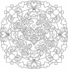 Heart & flower mandala