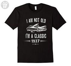 Mens 80th Birthday Tshirt I'm Not Old I'm A Classic 1937 Gift Tee Medium Black - Birthday shirts (*Amazon Partner-Link)