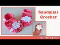 Como tejer zapaticos, escarpines crochet para bebés ♥ Bautizos - ocasiones especiales – Parte 1 - YouTube