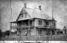 An old photo of the  Home of William S. Jennings - Brooksville, Florida  about 1895