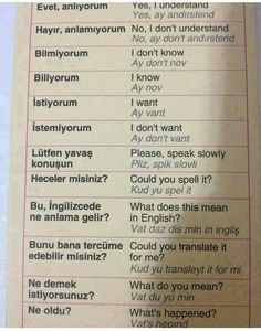 This Pin was discovered by Dil English Speech, English Vinglish, English Tips, English Words, English Grammar, Learn English, Learning Italian, Learning Spanish, Turkish Lessons