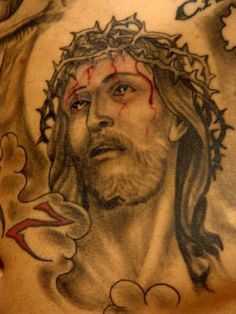 incredible Jesus tattoo on arm