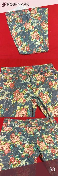 JeanBay Jeans JeanBay floral print jeans size 10,material info shown on photo above,in good condition,has one small pocket in front and two in back Jean bay Jeans