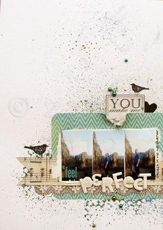 #Papercraft #Scrapbook #Layout.  Feel perfect - Scrapbook.com