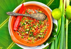 I need to share this delicious sambal matah from Bali. It is a raw sliced sambal, that is not ground fine in a mortar but mashed by hand. Sambal Recipe, Indonesian Food, Indonesian Recipes, Bali, Dishes, Spring, Ethnic Recipes, Onions, Sauces