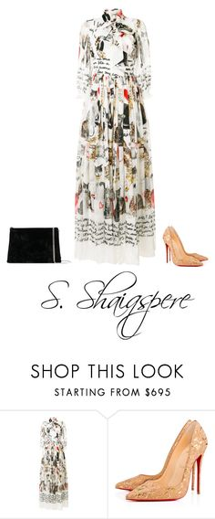 """Untitled #561"" by shaiqspere on Polyvore featuring Dolce&Gabbana, Christian Louboutin and Maison Margiela"