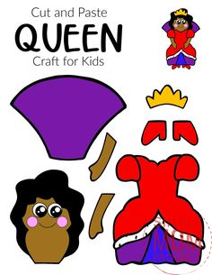 Are you looking for an easy, printable, paper queen craft template you and your preschool or kindergarten students can cut out? The free printable queen template makes this cute and simple queen craft an easy way to teach the upper and lowercase letter Q. You can use her as an elegant coloring activity or glue to a paper plate for an elegant place setting! Upper And Lowercase Letters, Lower Case Letters, Crafts To Make, Crafts For Kids, King Craft, Crown Crafts, Rainy Day Crafts, Storybook Characters, Preschool Lessons