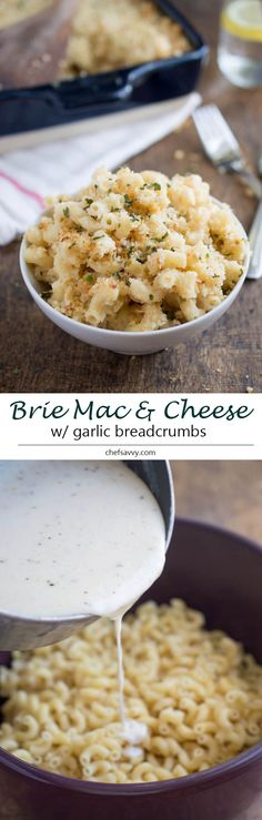 Creamy Three Cheese Mac and Cheese With Garlic Panko Breadcrumbs