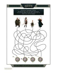 Disney Printable Brave Squiggle Maze