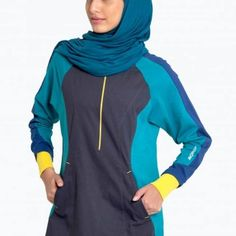 <3 blue Muslim, Islamic, Blue, Clothes, Collection, Design, Fashion, Outfits, Moda