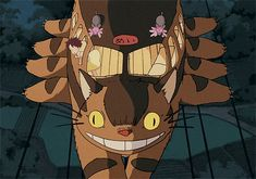 Am I the only person who finds the Cat Bus to be insanely (if unintentionally) creepy? My Neighbor Totoro.