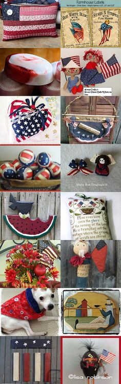 YAYYY! For the Red, White and Blue by Robyn Martin on Etsy--Pinned with TreasuryPin.com