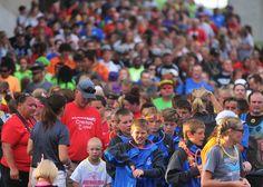 Iowa Games athletics gather to walk into the Iowa Games opening ceremony on Friday at Jack Trice Stadium in Ames. Photo by Nirmalendu Majumdar/Ames Tribune