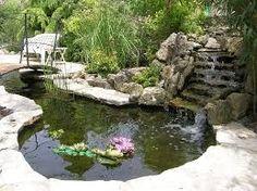 Resultado de imagen de jardines con piedras y estanques
