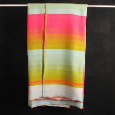 Scholten & Baijings Blanket - Pink/green/light blue Stripe - Darkroom - A concept store on London's Lamb's Conduit St - Darkroomlondon Textiles, Textile Patterns, Textile Prints, Textile Design, Cowboy Crochet, Cute Blankets, Color Stripes, Colour Schemes, Green And Orange