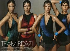 The Vogue US 'Team Brazil' Photoshoot Celebrates Upcoming World Cup #worldcup2014 #worldcup trendhunter.com