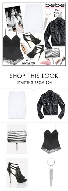 """""""All Laced Up for Spring with bebe: Contest Entry"""" by piedraandjesus ❤ liked on Polyvore featuring Bebe, H&M and alllacedup"""