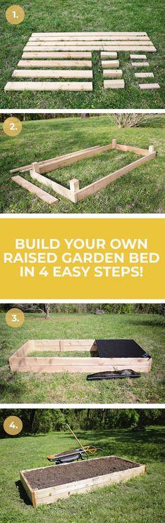 How to build a raised garden bed #easybackyardgardenideas #diygardenideashowtobuild