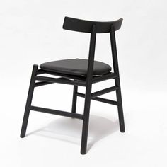 Ronin Dining Chair - Black Wood Back 3 Family Furniture, Modern Furniture, Wood Pallet Bar, Wood Bar Top, Natural Wood Table, Light Wood Cabinets, Navy Blue Living Room, Comfortable Accent Chairs, Traditional Cabinets