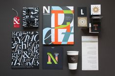 """That sentiment is clearly seen throughout the new book she and her team recently designed for Neenah """"Fresh Takes on Classic Type on CLASSIC Papers. Cool Typography, Typography Layout, Typographic Design, Graphic Design Typography, Paper Design, Book Design, Corporate Design, Branding Design, Neenah Paper"""