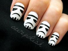Storm-Troopers  This manicure looks very elegant, and is just in time for Disney's announcement that they're taking over the Star Wars franc...