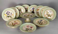 Servico de sobremesa em porcelana Inglesa Royal Worcester do sec.19th, 6px, 1,600 USD / 1,440 EUROS / 5,190 REAIS / 10,700 CHINESE YUAN