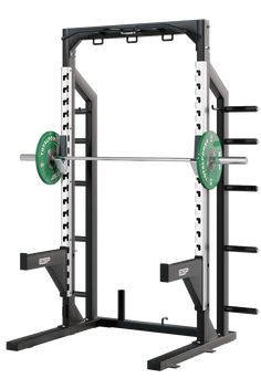 ESP Fitness Half Rack - The ESP Half Rack is the ultimate compact training station for smaller facilities or where space is limited. The rack provides the user with a complete training experience, and can be equipped with additional accessories including an adjustable utility bar, Power Bench (prone row) and dip handles that fit into the safety-spot bars and stored on the rack when not in use