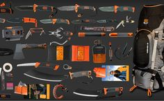 The Gerber Bear Grylls Ultimate Pack comes with.well, every Gerber Bear Grylls product in existence, efficiently loaded in his Commando 60 survival pack. Survival Equipment, Survival Tools, Wilderness Survival, Camping Survival, Outdoor Survival, Survival Knife, Survival Prepping, Outdoor Gear, Zombie Survival Gear