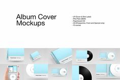 Album Cover Mockups by Design by Mike Kondrat on @creativemarket