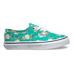 10bb1ed8b583d Vans Chaussures Junior Authentic (Digi Hula) Turquoise True White - Vans  France Boutique