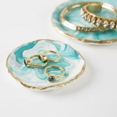 Gift this marbled jewelry tray to your bridesmaids.