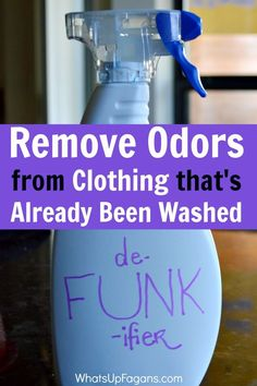 If you ever experience clothes that smell after washing and drying and want to know how to remove odor from these clothes, this DIY solution will get rid of the funky laundry smells once and for all. The Funk. The whole Funk. And nothing but the Funk. We recently moved into an apartment while our...Read More »: