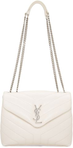 Saint Laurent - Off-White Small Loulou Chain Bag