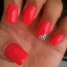 Acrylic nails...I think I want to do red nails.. A little shorter though.