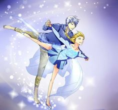 Jack and Elsa ice skating
