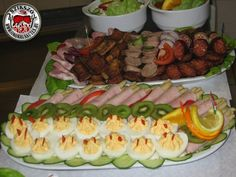 hidegtal_010 Cold Dishes, Sushi, Bacon, Appetizers, Ethnic Recipes, Cold Side Dishes, Appetizer, Entrees, Sushi Rolls