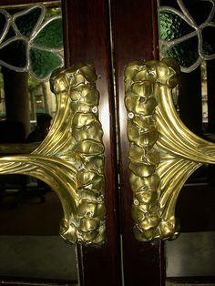Door pulls, Barcelona.  PICT4072 by StevenC_in_NYC, via Flickr