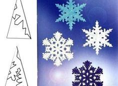 Снежинки. Трафареты для вырезания — Сделай Сам